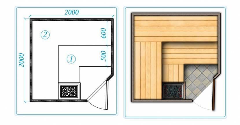 Проекты бань - чертежи и фото 018