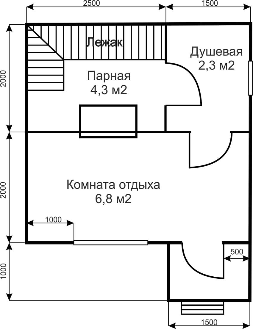 Проекты бань - чертежи и фото 022