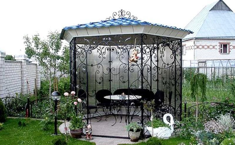 Виды дачных беседок - идеи простых садовых, открытых и закрытых вариантов 173