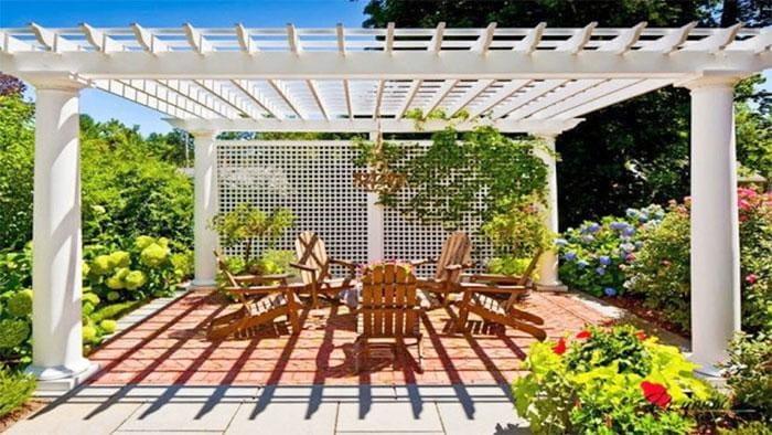 Виды дачных беседок - идеи простых садовых, открытых и закрытых вариантов 258